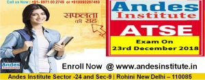 Andes Talent Search Exam(Junior/Senior)-2018 For Class V,VI,VII,VIII,IX,X,XI & XII Studying Students.